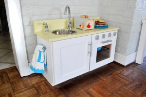 Home made play kitchen