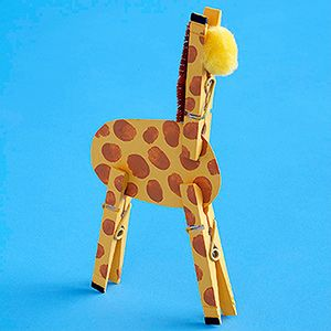 Clothes Peg Giraffe