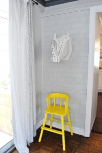 Yellow High Chair upcycle