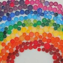 rainbow bottle caps
