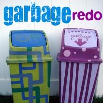 trash can bin makeover