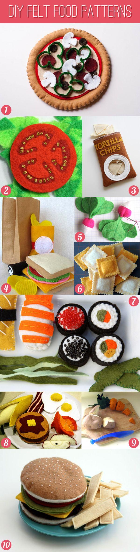 DIY Felt Food Patterns