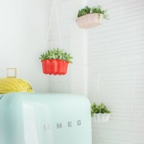 DIY Planters using Bundt cake pan