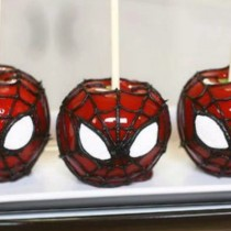 Spiderman Candy Apples (move over Toffee Apples)