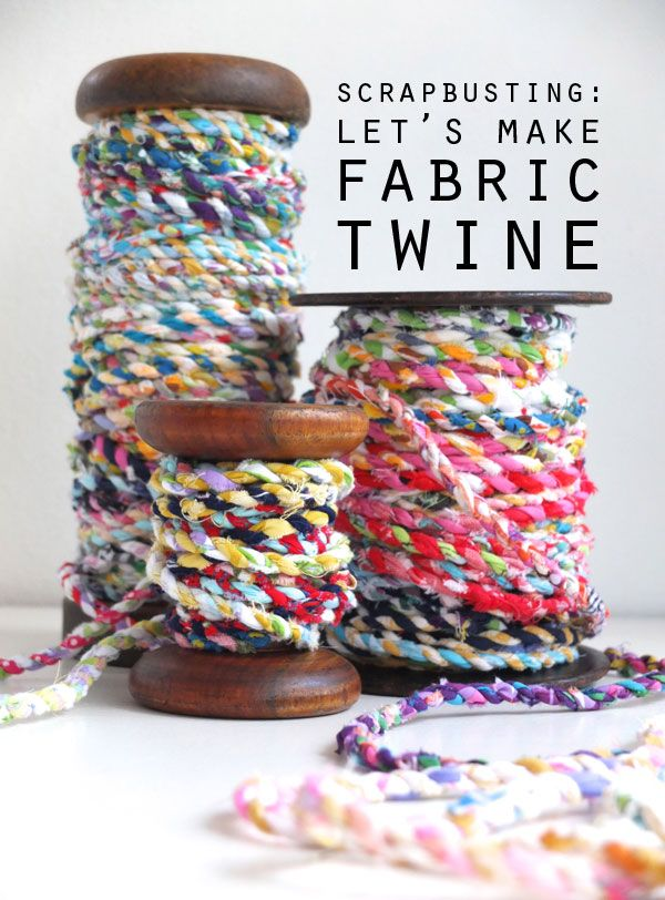 Handmade rope from scrap fabric