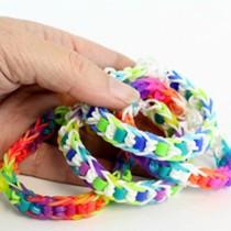 Rainbow Loom + Perler Bead Bracelets