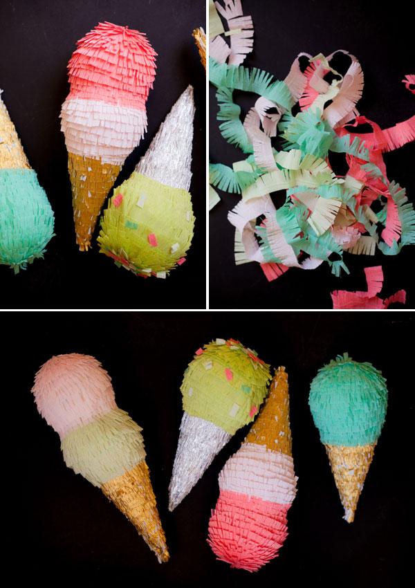 Pinata how to - Ice Cream Pinatas