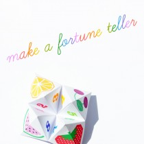 Fortune Teller Printable – Make Your Own Chatterbox
