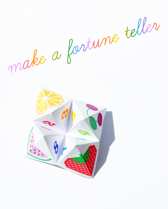 Fortune teller printable make your own chatterbox fun for How to make a chatterbox template