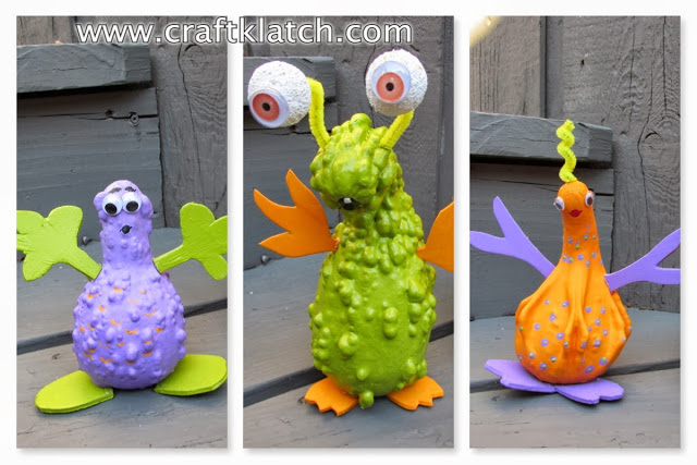 Gourd Monsters – Fun Halloween Craft For Kids