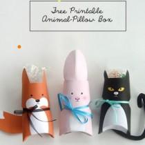 Animal Gift Box Printable