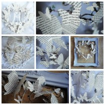 recycled book crafts – butterflies