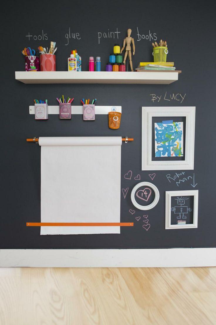 chalkboard paint desk space