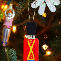 Toy Soldier Ornament – Craft Stick Craft