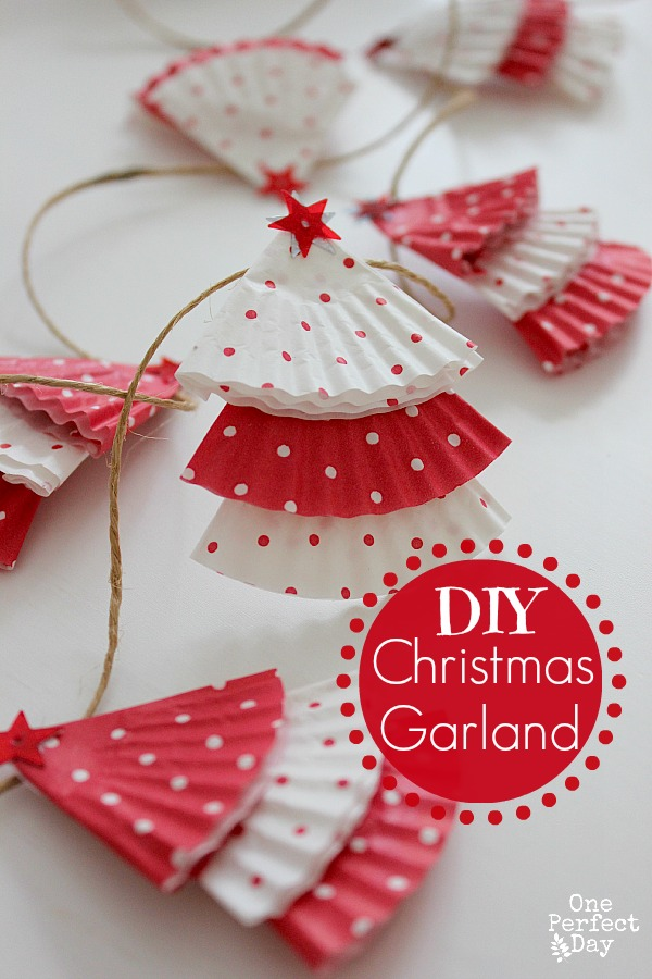 Easy Christmas Tree Garland - Fun Crafts Kids
