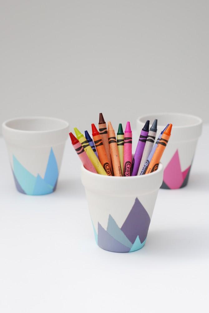 DIY – Painted flower Pots