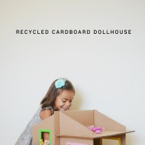 Simple Cardboard Box Doll's House