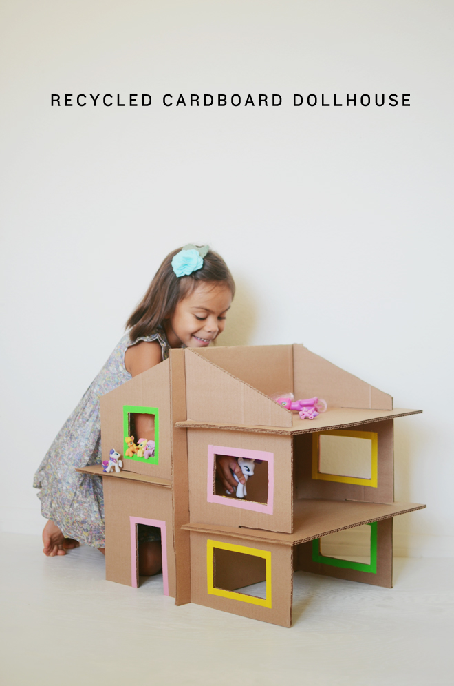 Simple Cardboard Box Doll S House Fun Crafts Kids