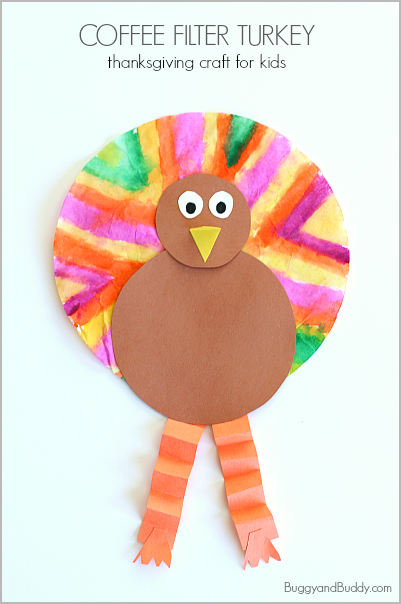 coffee Filter Turkey Thanks Giving Craft