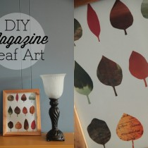 DIY leaf collage