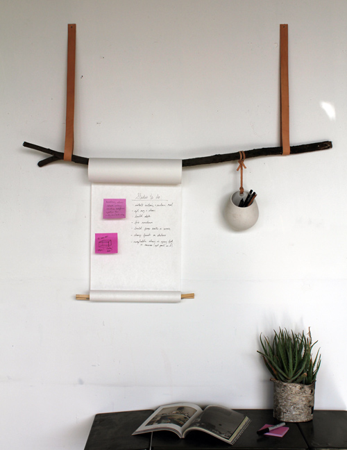 DIY branch scroll organiser
