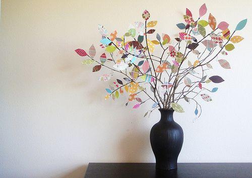 Scrapbook paper tree