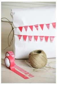 washi tape ideas - bunting