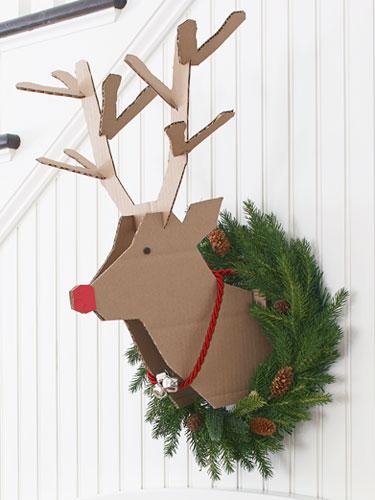 Recycled Cardboard Reindeer
