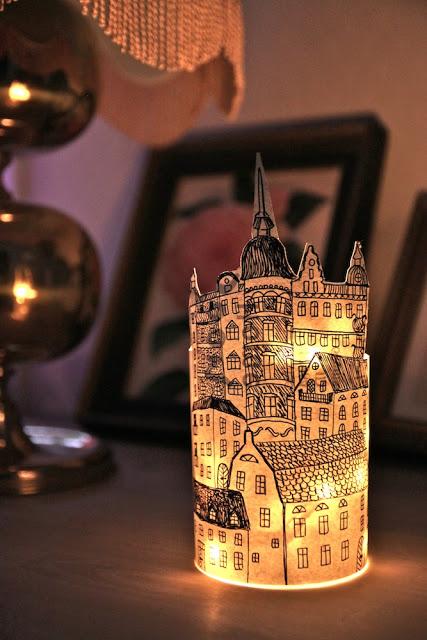 hand drawn paper lantern