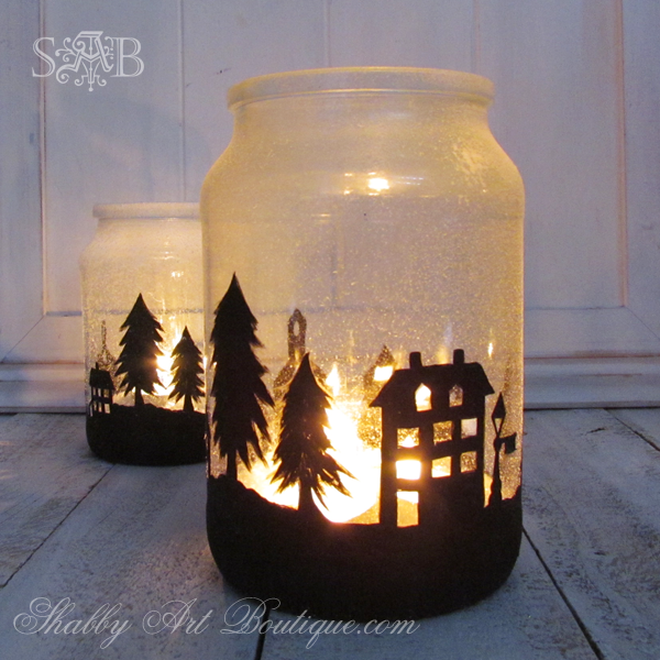 Winter crafts - adorable winter luminaries