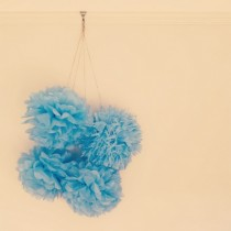 giant paper party pom poms