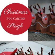 Reindeer Sleigh – made from Egg Cartons