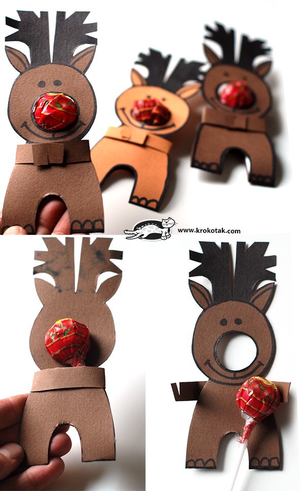 rudolph lolly pop Christmas Treat