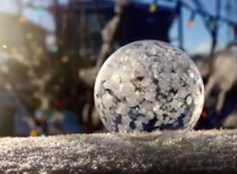 How to freeze bubbles