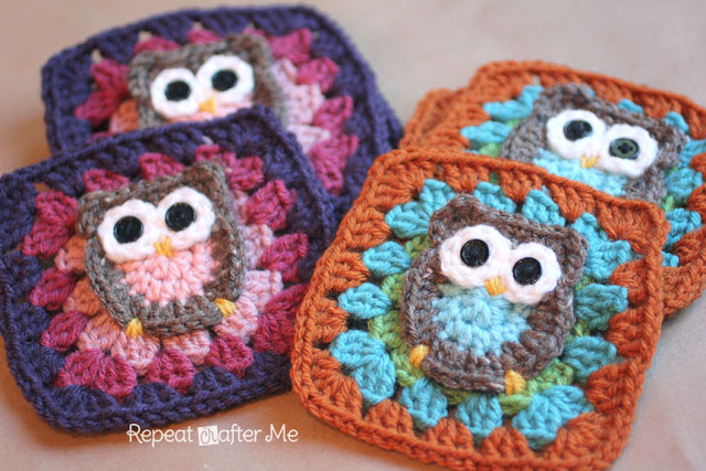 Owl Granny Squares Pattern