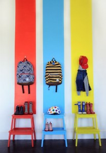 Painted Stripes Wall