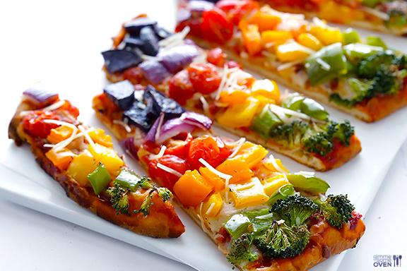 Rainbow Pizzas