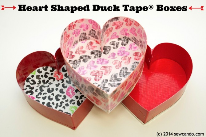 Heart Boxes Craft – using Duct Tape