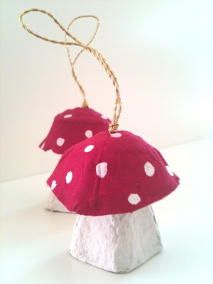 Egg Carton Crafts – Mushrooms