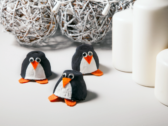 Egg Carton Crafts – Penguins