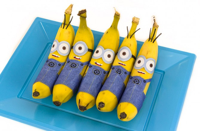 Banana Minions (Free Printable) – Minion Party Food