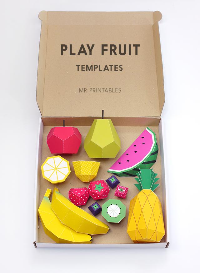 Print & Play – Fun Fruit Printables