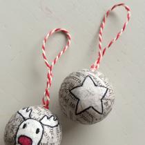 Newspaper Rudolph Ornaments