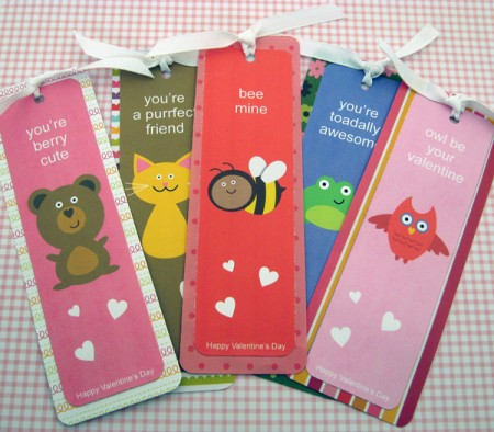 no candy valentine bookmarks