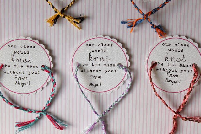 No Candy Valentine's – Friendship Bracelets