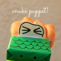 Raisin Box Snake Puppet