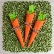 Spring Napkin Folding Idea – Carrots