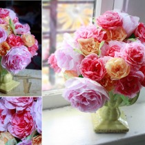 Coffee Filter Rose Bouquet