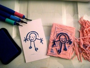 DIY Stamp from kids art