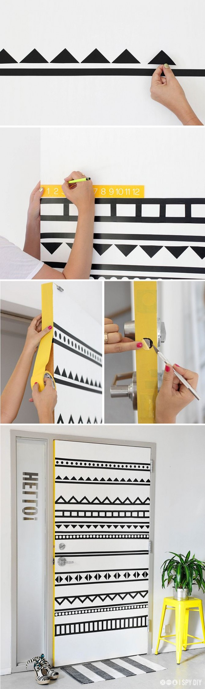 DIY decorated door